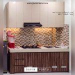 jual kitchen set minimalis mungil bentuk i project di pisangan timur id3635