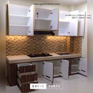 jual kitchen set minimalis mungil custom Gavin by Portu id3635