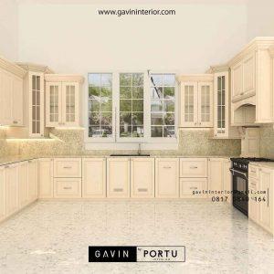 pembuatan desain kitchen set klasik di Bintaro id2524