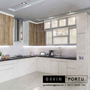 contoh kitchen set finishing hpl letter L by Gavin id3404