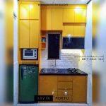 contoh kitchen set mungil dan minimalis warna kuning id3728