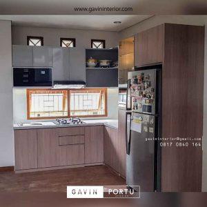 design kitchen set minimalis motif kayu project di bekasi id3564
