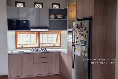 design kitchen set minimalis motif kayu project di bekasi id3564