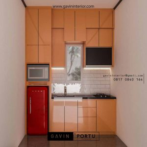 design kitchen set mungil kombinasi warna Gavin by Portu id3728