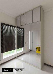design lemari sliding cermin letter i di kebayoran residences id3547