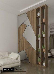 design partisi kaca kombinasi cermin Gavin by Portu id3604
