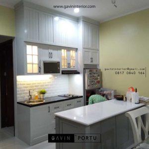 gambar lemari dapur kotor klasik project di Bintaro id3491