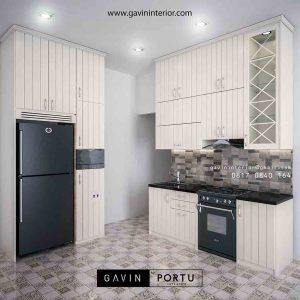 contoh kitchen set kering design klasik di Kemanggisan id3292