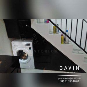 contoh lemari bawah tangga untuk mesin cuci