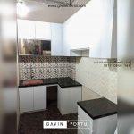jual kitchen set hpl model letter L minimalis di Cipayung id3598