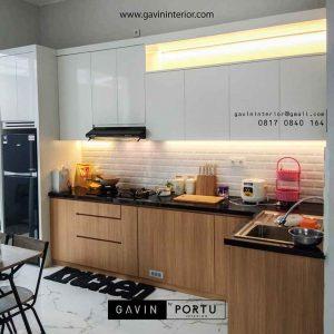 membuat kitchen set hpl minimalis kombinasi warna di Bogor id3696