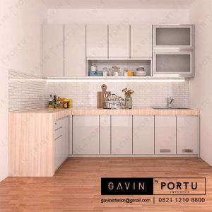 pembuatan kitchen set design minimalis project Pondok Pinang id3253