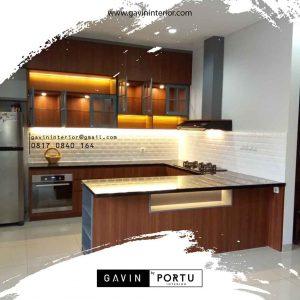 Buat kitchen set dapur kering dengan island id3695