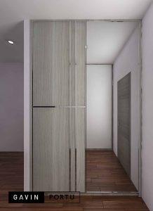 contoh lemari sliding 2 pintu di Pesanggrahan id3793
