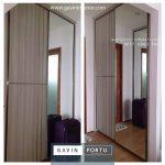 contoh lemari sliding minimalis 2 pintu kombinasi cermin id3793