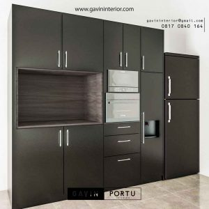 desain lemari dapur kering minimalis modern id3447