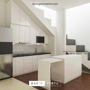 design kitchen set bawah tangga minimalis modern id3612