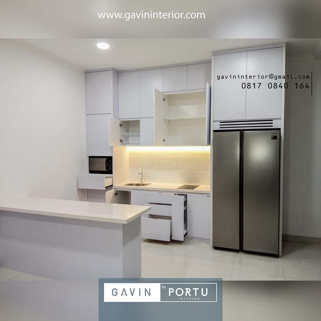 Lemari Dapur Kering Dengan Island Cakung Metland Menteng Kitchen Set Minimalis Lemari Pakaian Custom Hpl Duco Dan Laker Terbaik