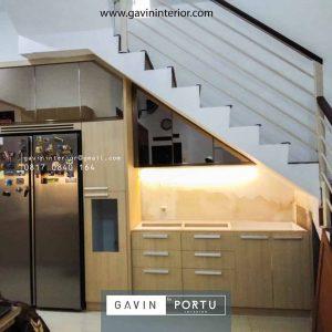 Desain Lemari Dapur Bawah Tangga Project Ampera Jakarta Selatan