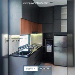 Gambar Buat Kitchen Set Minimalis Modern Dark Grey Serua Indah Ciputat