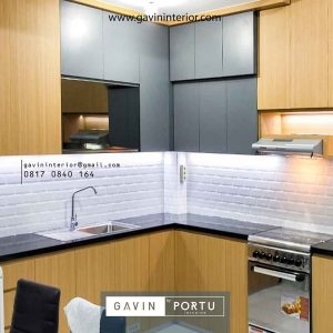 Proses Pembuatan Kitchen Set HPL Griya Rajawali Ciputat