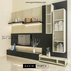 Review Design Backdrop TV Model Minimalis Villa Artha Gading Jakarta Utara Gavin By Portu