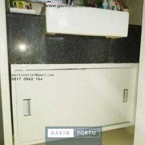 Review Pembuatan Meja Wastafel HPL Apartemen Kuningan Place Jakarta Selatan