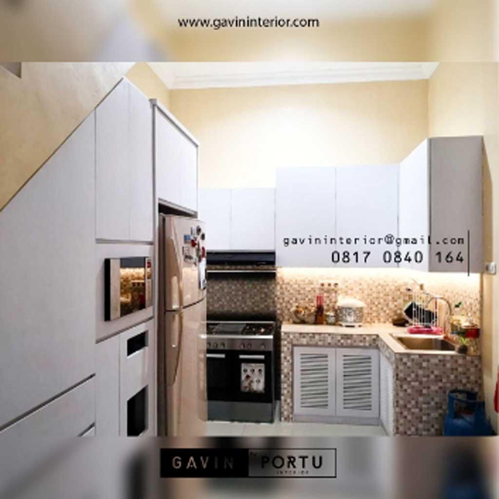 Proses Pembuatan Model Kitchen Set Minimalis HPL Putih ...