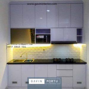 Hasil Gambar Kitchen Set Sederhana Bentuk i Full Plafon Warna Putih Di Sukabumi Utara Kebon Jeruk Gavin by Portu
