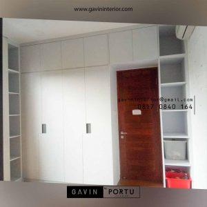 Proses Pemasangan Lemari Pakaian Minimalis 4 Pintu di Kedaung Pamulang Ciputat id4045p