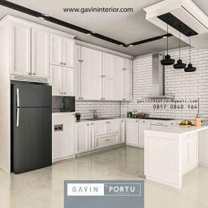 Kitchen set desain semi klasik