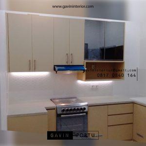 Kitchen Set HPL Kombinasi Cermin Taman Ubud Loka Lippo Karawaci id4307p