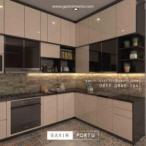 desain kitchen set model letter L