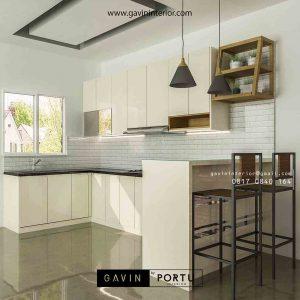 kitchen set minimalis & minibar cusom letter u