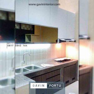 Contoh Kitchen Set Gaya Minimalis Pasang Klien di Casa Jardin Cluster Dianella Cengkareng id4036