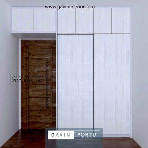 Design lemari Pakaian finishing HPL id4360