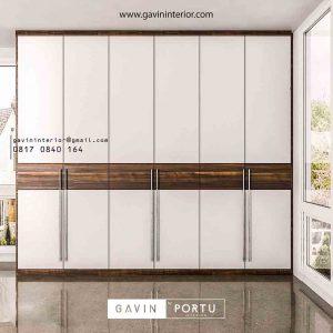Jual lemari pakaian pintu swing minimalis full plafon id3427