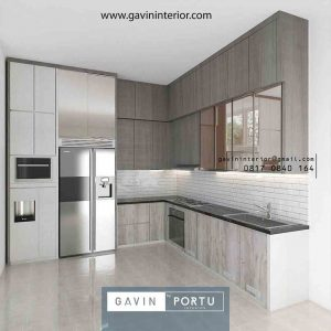 kitchen set minimalis kombinasi warna ID3677