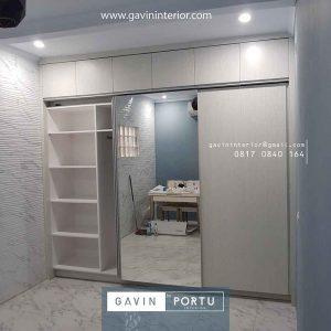 model lemari pakaian pintu sliding model minimalis id3914