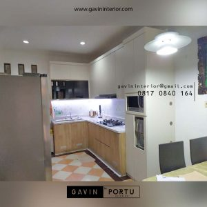 Jasa Buat Kitchen Set Warna Putih di Pamulang Tangerang id4426P