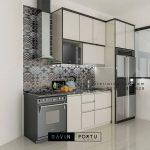 Kitchen Set Minimalis Warna Putih Perumahan Discovery Serenity Bintaro Pondok Aren id4362