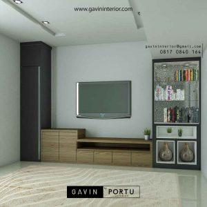backdrop tv mewah ruangan keluarga desain minimalis