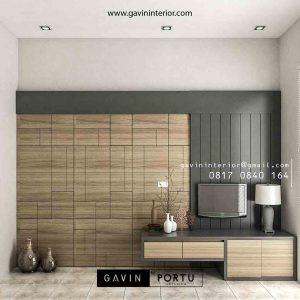 desain backdrop tv kamar tidur minimalis modern