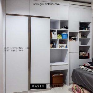 wardrobe desain minimalis fhinishing HPL