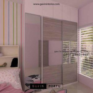 harga lemari sliding desain custom kamar anak