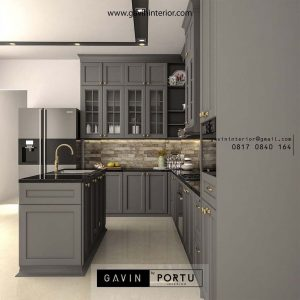69+ Portofolio Kitchen Set Warna Abu-abu Desain Custom