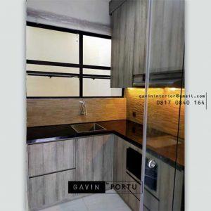 Jasa Kitchen Set Motif Kayu Klien Suvarna Sutera Cikupa Sindang Jaya Tangerang Id4897P