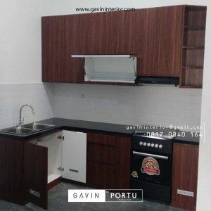 Jasa pembuatan Kitchen motif kayu Ciputat Tangerang id3535p