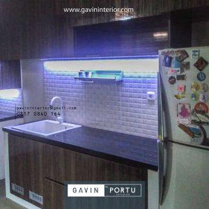 Jual Kitchen Set HPL Motif Kayu Klien Premier Estate Setu Cipayung Jakarta id4162p