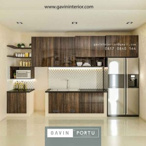 Kitchen Set HPL Motif Kayu Klien Premier Estate Setu Cipayung Jakarta id4162p